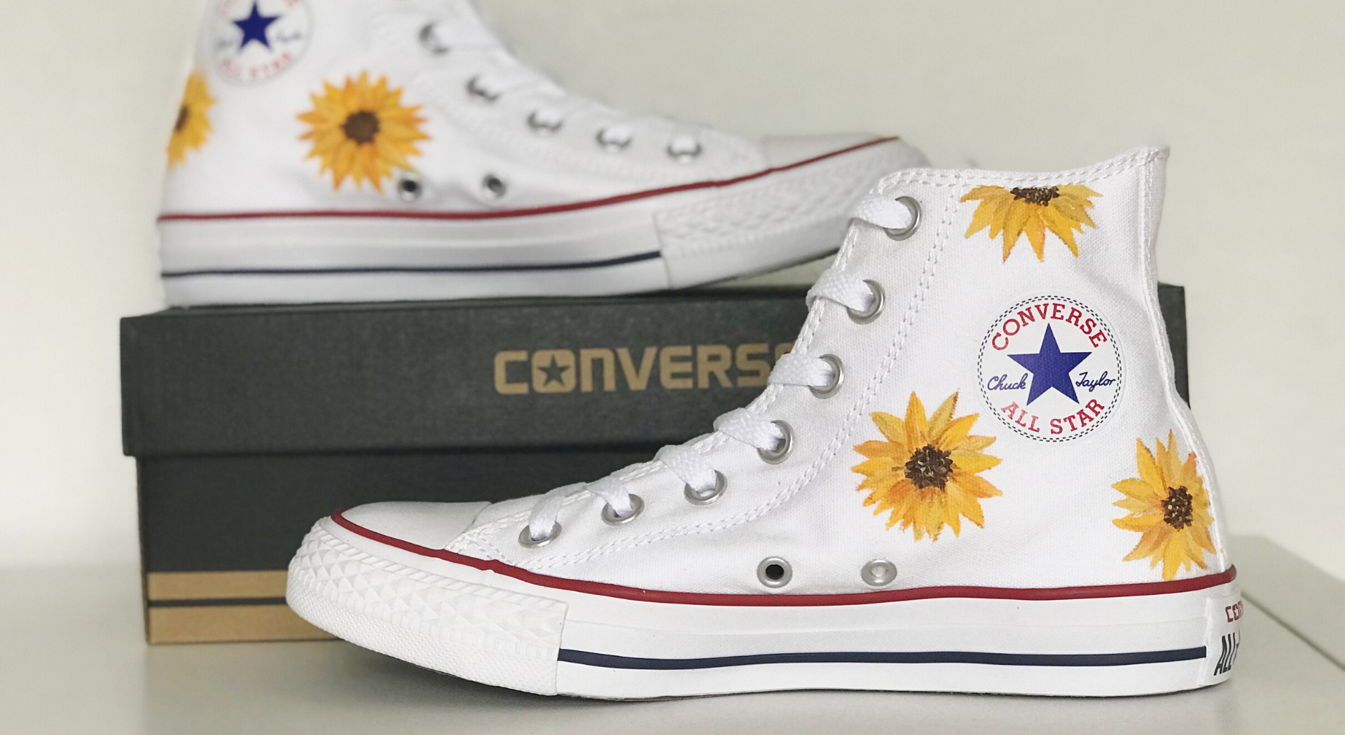 How To Paint Shoes In 5 Easy Steps Diy Sunflower Shoes The Beauty Of Traveling